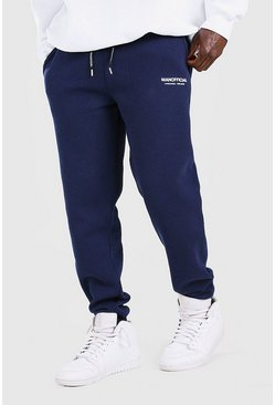 Navy MAN Official Elastic Waistband Slim Fit Jogger