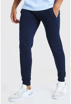 Navy Super Skinny Panelled Jogger