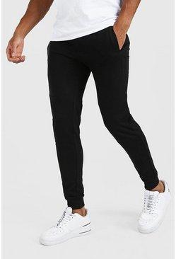 Black Super Skinny Panelled Jogger