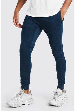 Blue Skinny Fit Panelled Jogger