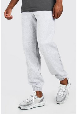 Basic Loose Fit Jogger, Grey marl