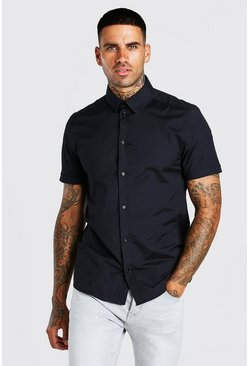Muscle Fit Short Sleeve Shirt , Black