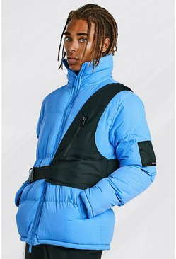 Blue Contrast Utility Detail Puffer