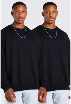 Black 2 Pack Oversized Sweatshirt