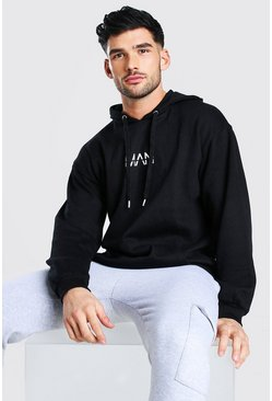 Black Oversized Original MAN Hoodie