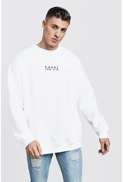 White Oversized Original MAN Sweatshirt