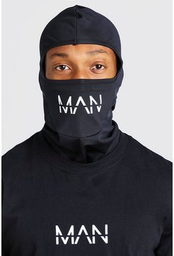 Black MAN Active Over Head Balaclava Snood