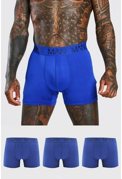Blue MAN Active 3 Pack Boxers