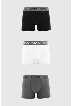 Grey MAN Active 3 Pack Boxers