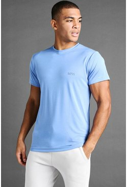 T-shirt Active Poly MAN, Bleu