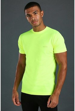 T-shirt Active Poly MAN, Jaune néon