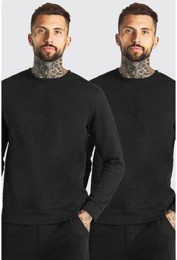 Black 2 Pack Basic Sweatshirt