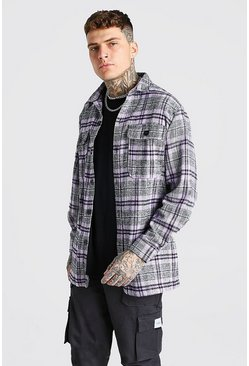 Purple Long Sleeve Heavy Weight Flannel Overshirt