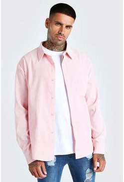 Pale pink Long Sleeve Oversized Corduroy Shirt