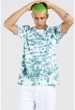 Green Oversized Los Angeles Tie Dye T-Shirt