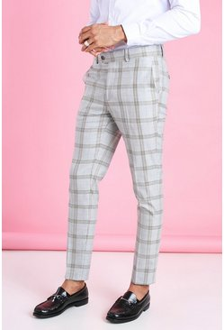 Brown Super Skinny Heritage Check Smart Trouser