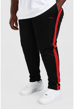 Black Big And Tall MAN Signature Tricot Jogger
