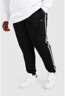 Black Big And Tall MAN Signature Tricot Cuff Jogger