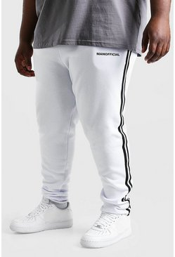 White Big And Tall MAN Official Jogger
