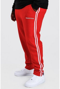 Red Big And Tall MAN Official Jogger