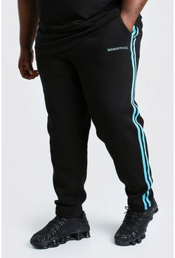 Black Big And Tall MAN Official Jogger
