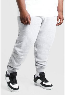 Big And Tall - Jogging MAN signature, Gris chiné
