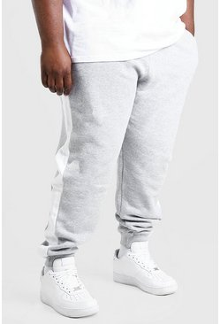 Grey marl Plus Size MAN Official Panel Jogger