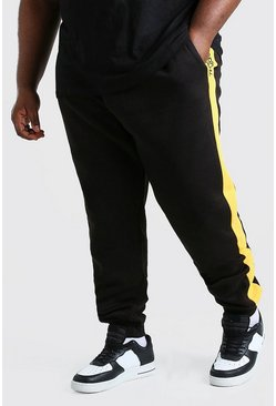 Black Big And Tall MAN Official Panel Jogger