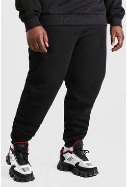 Black Big And Tall MAN 3D Embroidered Joggers