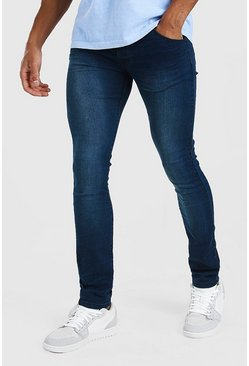 Stonewash Super Skinny Jeans With Ripped Knees