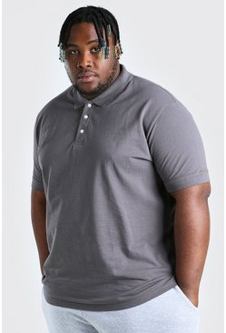 Charcoal Plus Size Pique Polo