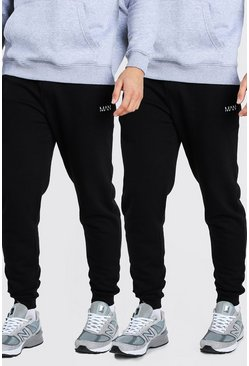 Black 2 Pack MAN Dash Skinny Jogger