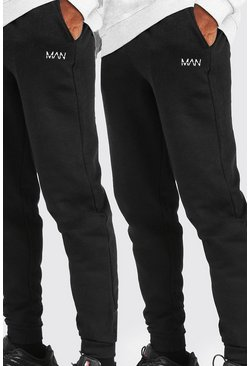 Black 2 Pack MAN Dash Loose Fit Jogger