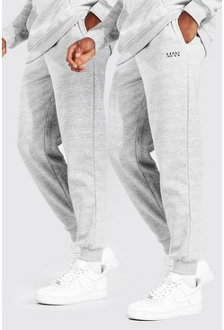 Grey marl 2 Pack MAN Dash Loose Fit Jogger