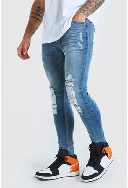 Light blue Skinny Fit Jean With Heavy Distressing