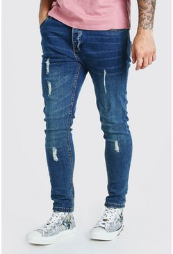Light blue Skinny Fit Jean With Knee Rips