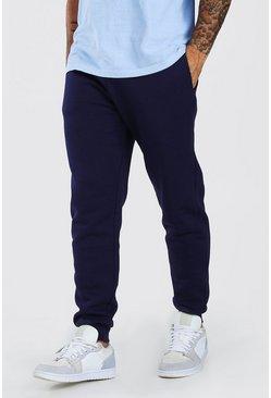 Navy Basic Slim Fit Joggers
