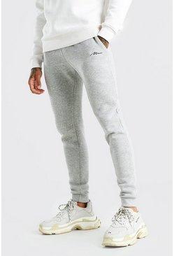 Grey MAN Signature Skinny Fit Joggers