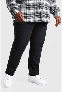 Black Plus Size Skinny Fit Chino Pants