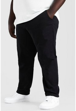 Black Plus Size Slim Fit Chino Trouser