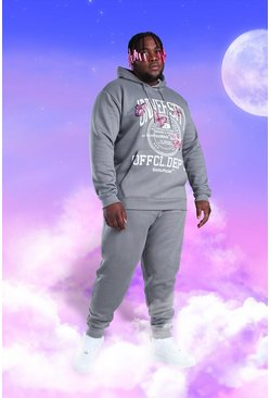 Big And Tall MAN Butterfly Print Tracksuit