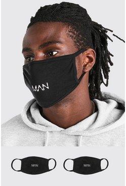 Black 2 Pack MAN Dash Reversible Fashion Masks