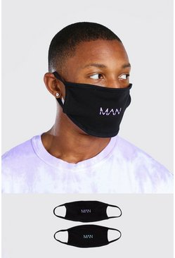 Black 2 Pack MAN Dash Multi Fashion Masks