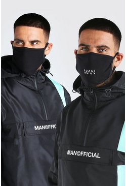 Black 3 Pack MAN Dash Fashion Masks