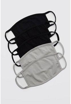 5 Pack Multi Plain Fashion Masks