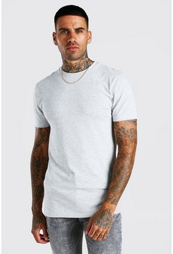 Grey marl Muscle Fit Crew Neck T-Shirt