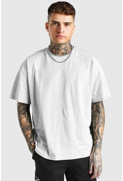 Grey marl Oversized Crew Neck T-Shirt