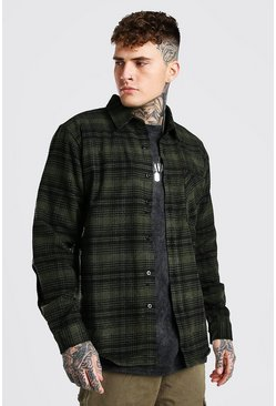 Khaki Heavy Weight Check Overshirt