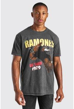 Charcoal Oversized Ramones Overdye License T-Shirt