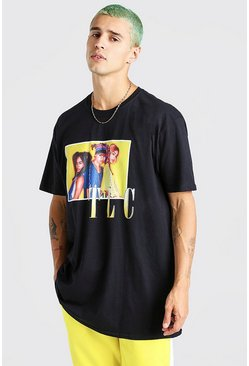 Black Oversized TLC License T-Shirt